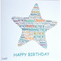 Happy Birthday NEPHEW - order code 425