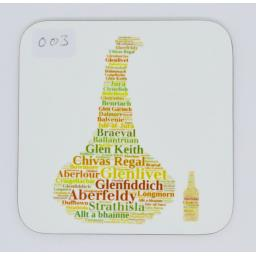 Coaster - whisky still and bottle(order code C003)