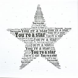 YOU'RE A STAR with sparkle  (order code 280)