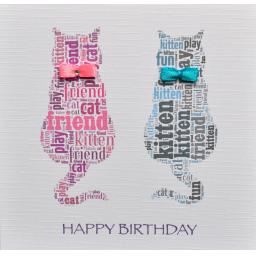 TWO CATS with bows -CODE 200