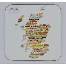 coaster - whisky map(order code C004)