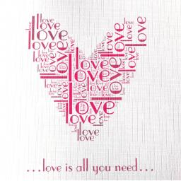 Valentine Heart - order code 463  ALL YOU NEED IS LOVE