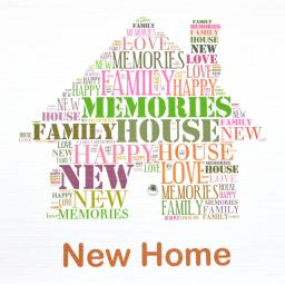 NEW HOME with diamonte  (order code 305)