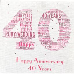 40th RUBY WEDDING  order code 372