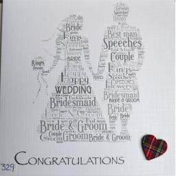 Wedding - Scottish bride and groom. - order code 429