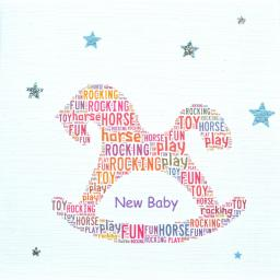 ROCKING HORSE with sparkle -  order code 242