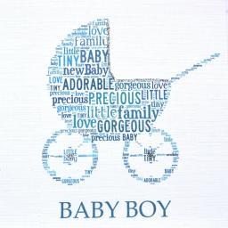 BABY BOY PRAM with sparkle  -  order code 236
