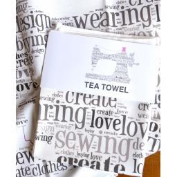 Sewing machine tea towel