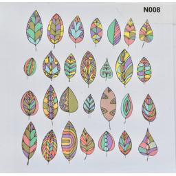 Notelet - leaves  (order code N008