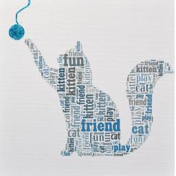 CAT WITH BALL with sparkle  -  order code 213