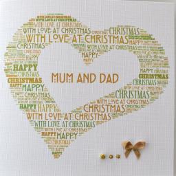 MUM & DAD OPEN HEART - order code C122