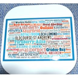 Golf words coaster
