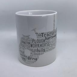 Word art mugs