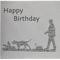 HAPPY BIRTHDAY  order code 434 - MAN WALKING DOG