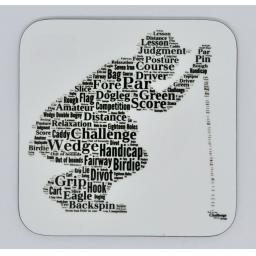 Coaster - CROUCHING GOLFER(order code C037)