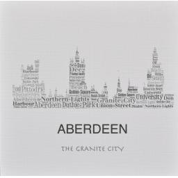 ABERDEEN SKYLINE WITH DORIC WORDS  order code SC244
