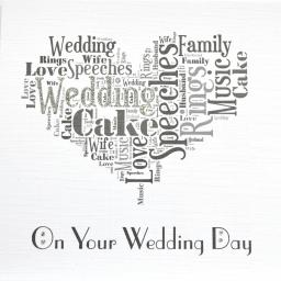 WEDDING HEART with sparkle (code 330)