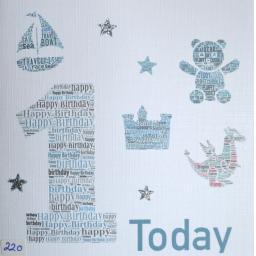 FIRST BIRTHDAY BOY  - order code 220