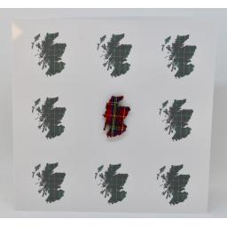 Tartan map of Scotland(order code 618)