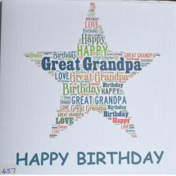 Happy Birthday GREAT GANDPA - order code 457