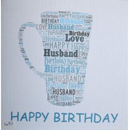 Happy Birthday HUSBAND  - order code 451