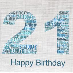 Age 21st Birthday - order code 226