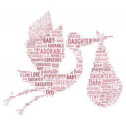 Stork baby girl(order code 552)