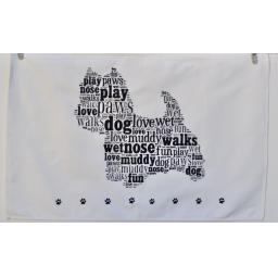 Tea towel - Westie (west highland white terrier)