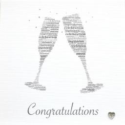 CHAMPAGNE GLASSES with sparkle (code 321)