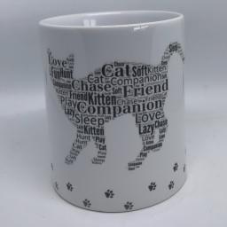 Word art mugs
