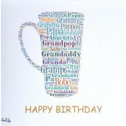 Happy Birthday GRANDPA - order code 426