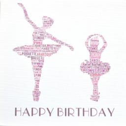 BALLET DANCERS with sparkle (order code 282)