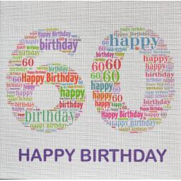 60th BIRTHDAY  order code 230M