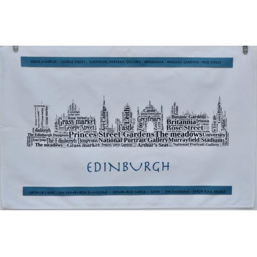Edinburgh skyline TEA TOWEL