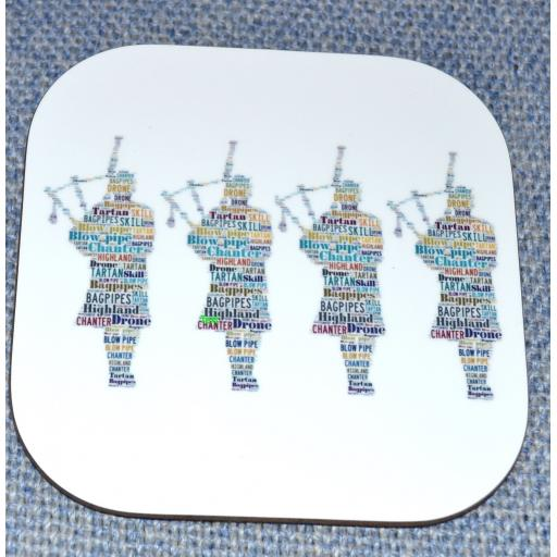 Scottish pipers coaster(order code C023)