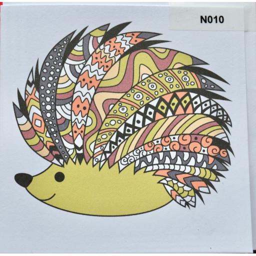 Notelet - hedgehog - order code NO10