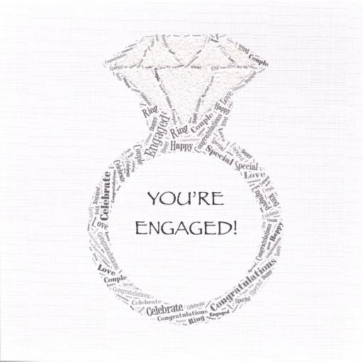 ENGAGEMENT RING with sparkle (code 323)