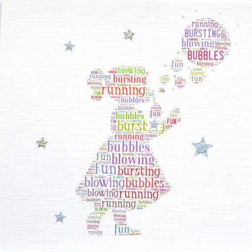 GIRL WITH BUBBLES with sparkle (order code 287)