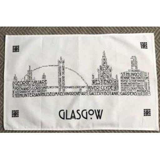 GLASGOW SKYLINE TEA TOWEL