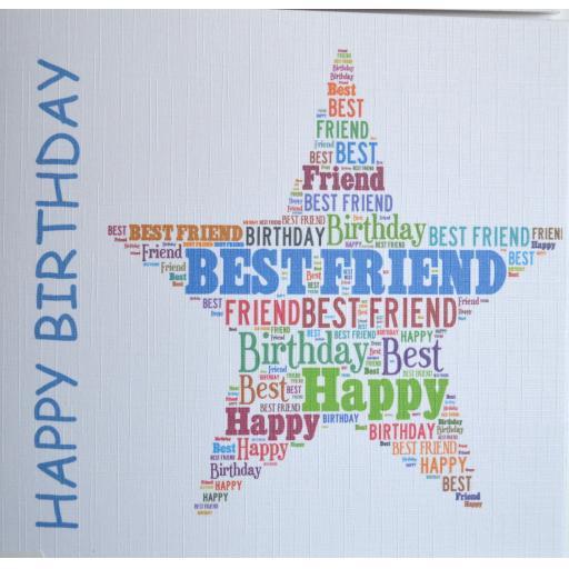 Happy Birthday BEST FRIEND - order code 454