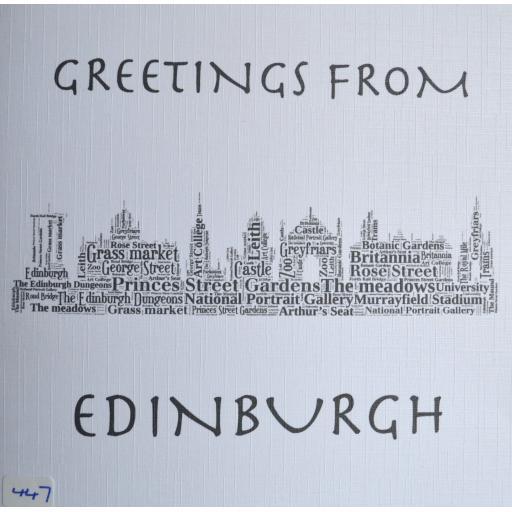 Edinburgh skyline - order code 447