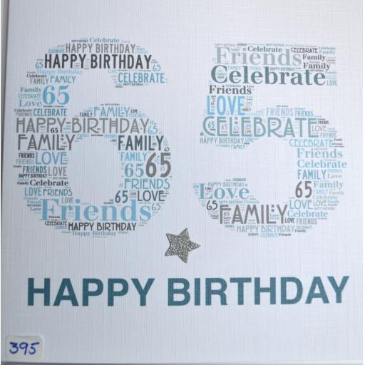 Happy Birthday 65  - order code 395