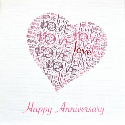 HAPPY ANNIVERSARY with sparkle (code 312)