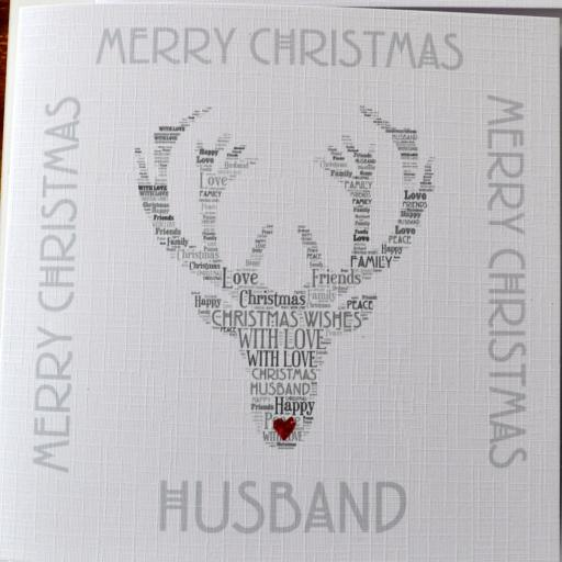 HUSBAND - STAG WITH GLITTER NOSE!  order No. C110