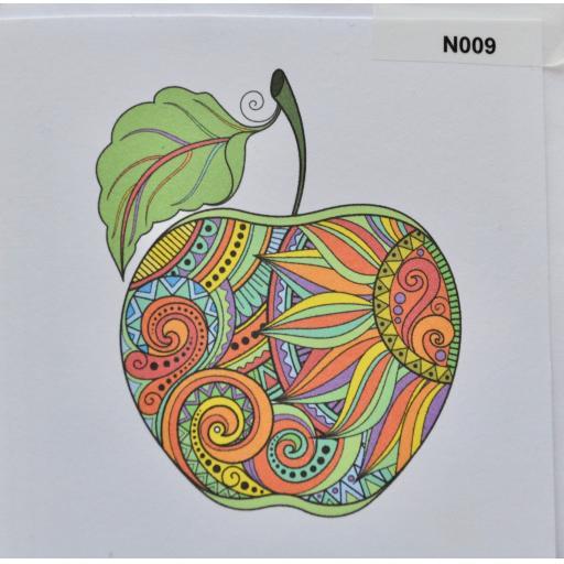 Notelet - Apple  (order code N009)