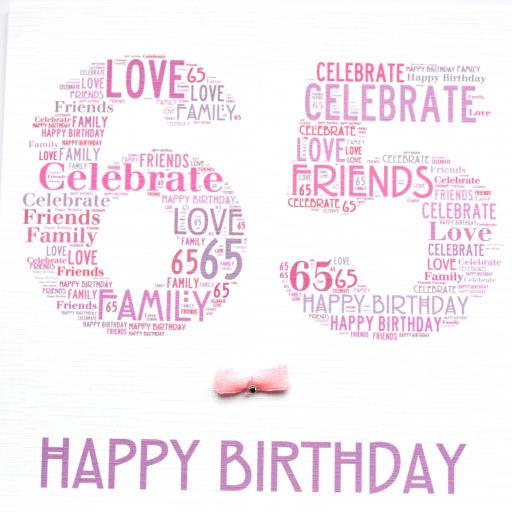 65th BIRTHDAY with sparkle (code 394)