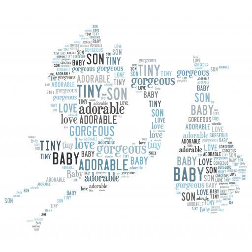 new baby boy stork(order code 551)