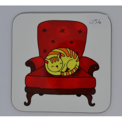 COASTER - CAT ON CHAIR - (order code C067)