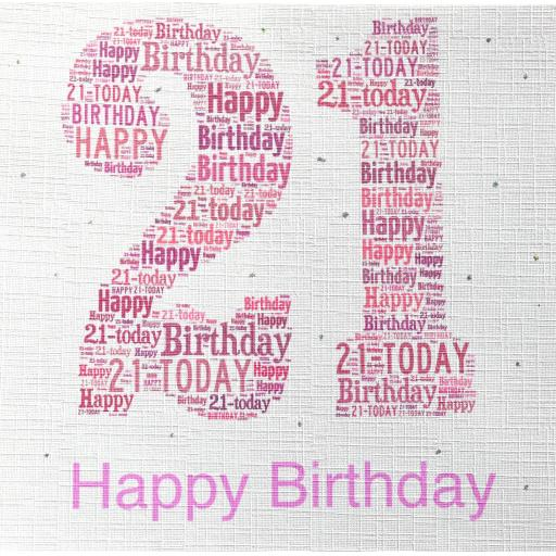 21st BIRTHDAY PINK  order code 228