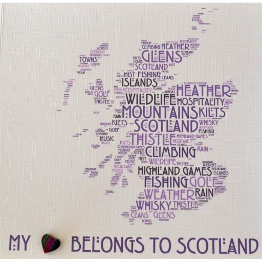 My heart belongs to Scotland - order code 467